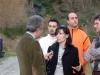 Attivisti del comitato nel fiume Oliva con Igor Stagliano (Ambiente Italia)