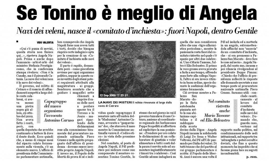 """articolo pubblicato da """"Calabriaora"""" il 18 marzo 2010"""